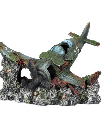 Vliegtuigwrak voor aquarium