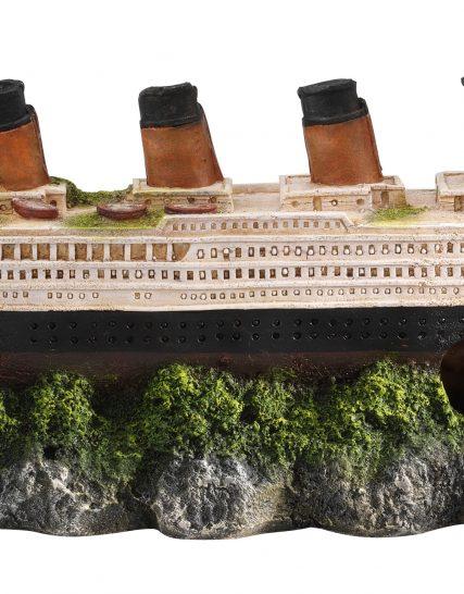 Scheepswrak Titanic met luchtsteen