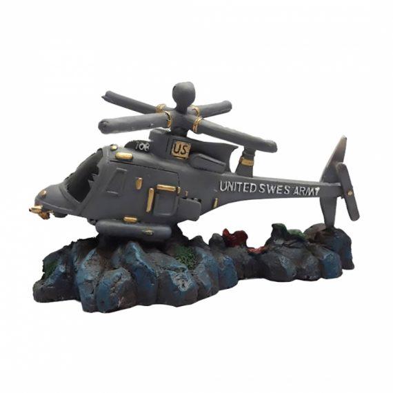 Aquarium decoratie helikopter