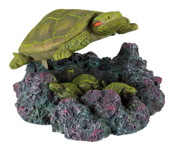 Aquarium schildpad met luchtuitstromer