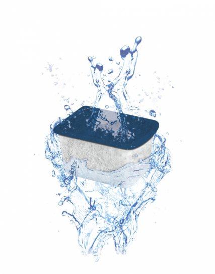 Water clear medium 1st Blauw 4.6x3.6x3.1cm